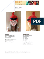 Crabby Cardinal Kids Ear Hat