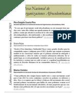 Boletin3MesaNacionalOrganizacionesAfrocolombianas