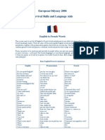 English to French Words