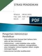P. Point Administrasi Pendidikan