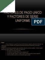 factor pago unico y factor pago uniforme