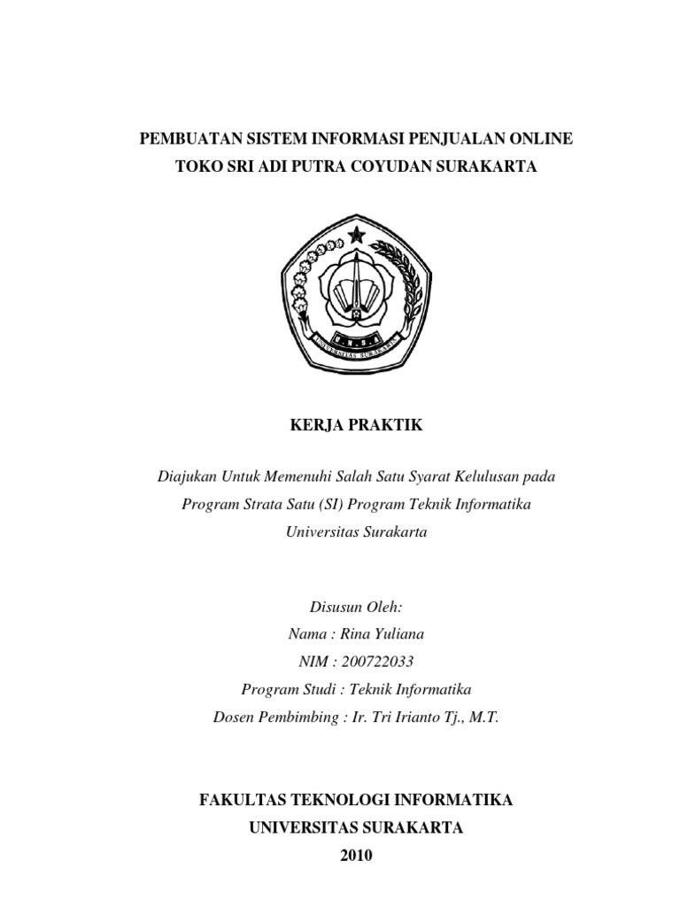Proposal Kerja Praktek Teknik Informatika