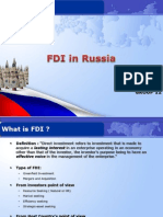 fdi in  Russia