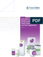 Nutrition Health Claims Food Supplements Final Bookmarked for Web