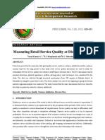 Retail Service Quality