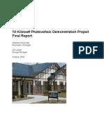 10 KV PV Demo Project Report