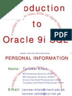 Oracle 9i sql