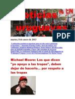 Noticias Uruguayas martes 8 de enero del 2013