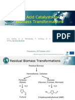 Solid acid catalysts for biomass transformations