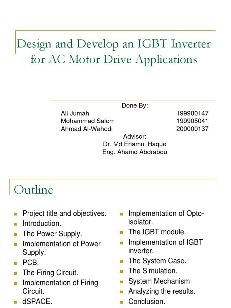 Drives Power Inverter Printed Circuit Board Igbt Ups Diagram