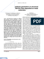 An effect of synthesis parameters on structural properties of AlN thin films deposited on metal substrates