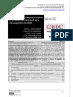 EN EL CERCO. LOS CUERPOS PRECARIOS EN LA CIUDAD DE CÓRDOBA TRAS LA CRISIS ARGENTINA DE 2001
