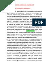 LA PSICOLOGÍA COMUNITARIA EN VENEZUELA