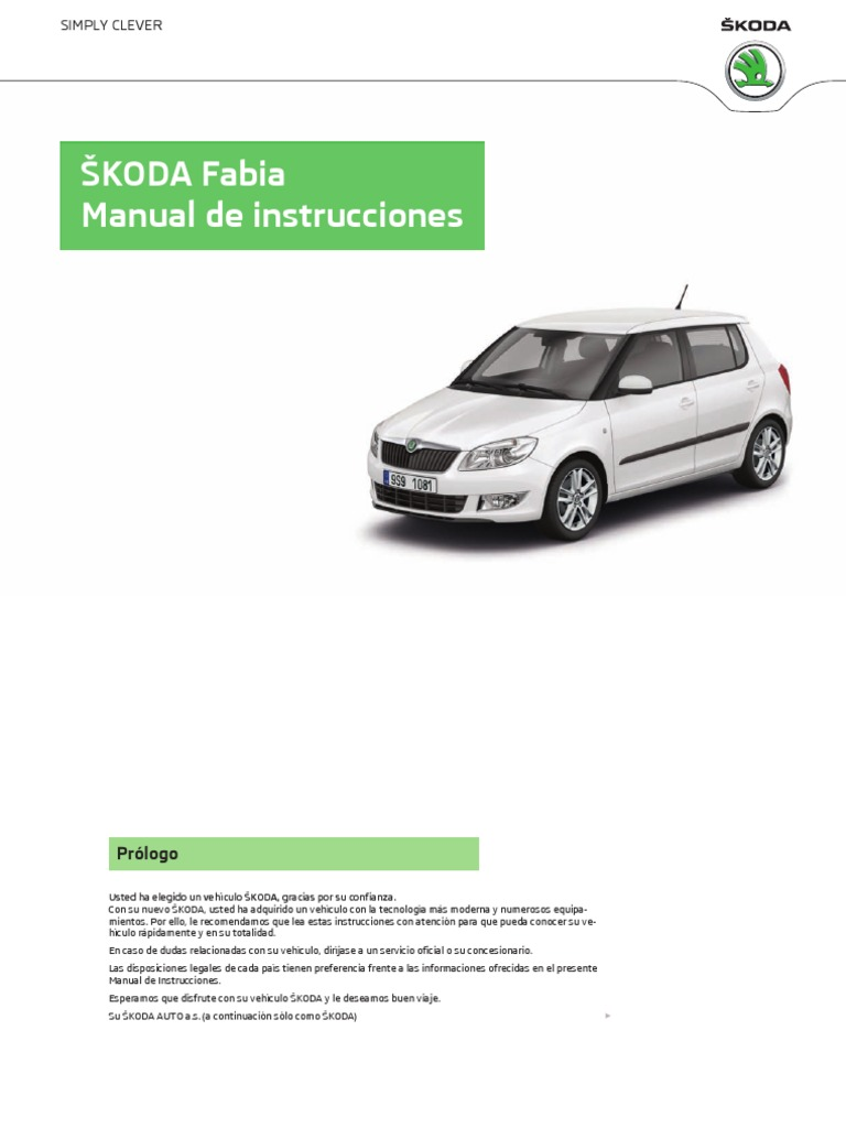 Skoda Fabia manual