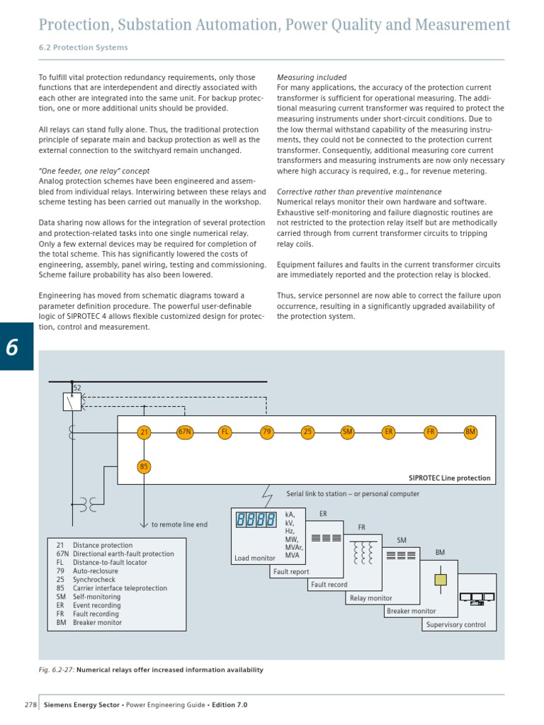 Siemens Power Engineering Guide 7E 278 | Relay | Electrical