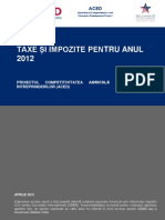 Impozitele si taxele in moldova 2012