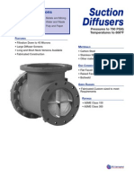 Suction diffuser valve