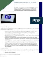 ProENGINEER - Creating Geometry With UDF
