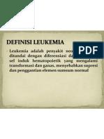 Definisi Leukemia