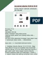 Cara Buat Proxy Server Ubuntu 10