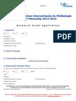 SERVIER / Union Internationale de Phlébologie (UIP) Fellowship 2013-2015