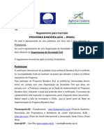 Regulamento para Inscrição PROGRAMA BANDEIRA AZUL – BRASIL