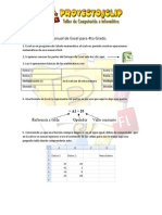Manual de Excel Para 4to Grado