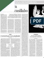 Ricordo Di GIOVANNA BEMPORAD, Raffaeli, Cortellessa, Ferracuti - Il Manifesto 08.01.2013