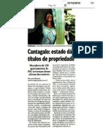 O Globo - Cantagalo - estado dá títulos de propriedade - 21-12-12