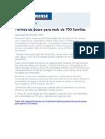 23.12 O Fluminense - Termo de posse para mais de 700 famílias