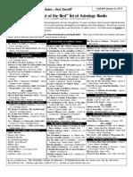 Dev's Astrology Book List