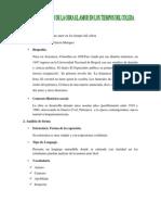 ANÁLISIS LITERARIO DE LA OBRA AMOR EN LOS TIEMPOS DEL COLERA
