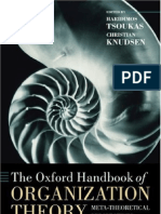 The Handbook of Organization Theory