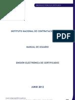 Manual Certificados