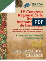 Progama Congreso SIP 2012