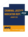 Criminal Justice Indicator Report- January, 2013