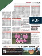 Publicación de las clasificaciones de las ligas Futbolcity en Superdeporte. Miércoles 26 de diciembre 2012.