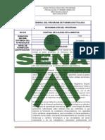 Programa Control de Calidad de Alimentos SENA