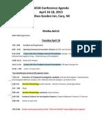 NCIAI 2013 Conference Agenda