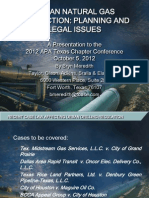 Urban Natural Gas Production Planning and Legal Issues (October 5, 2012)
