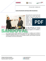 07-01-13 Boletin 1113 Narváez es el nuevo Secretario de Desarrollo Económico