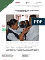 07-01-13 Boletin 1114 Gobierno de la Gente mantiene guardias en las clínicas del estado para enfrentar el frío