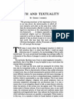 Barth and Textuality