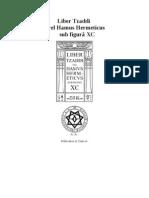Liber Tzaddi vel Hamus Hermeticus sub figurâ XC