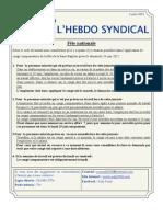14. l'Hebdo Syndical 6 Juin 2012