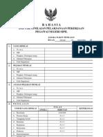 Daftar Penilaian Pelaksanaan Pekerjaan (DP3) Pegawai Negeri Sipil
