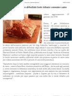 Enpa, dopo abbuffate feste ridurre consumo carne rossa