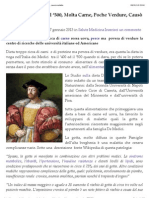 Dieta De Medici Del '500, Molta Carne, Poche Verdure, Causò Malattie