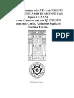 Liber Arcanorum τών ATU τού TAHUTI QUAS VIDIT ASAR IN AMENNTI sub figurâ CCXXXI