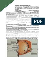 Anatomie Et Fonctionnement de l'Oeil